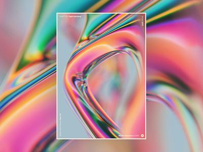 """WWP°229 """"light bending"""" chromatic aberration chroma illustration blender3d blender pattern colors wwp generative filter forge abstract art design"""