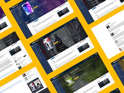 New Project View Storyrocket poster designprocess sketchapp inspiration redesing startup userexperiencedesign productdesign flat interface ui ux