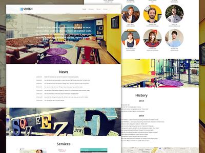 SQUEEZE Inc website japan design web
