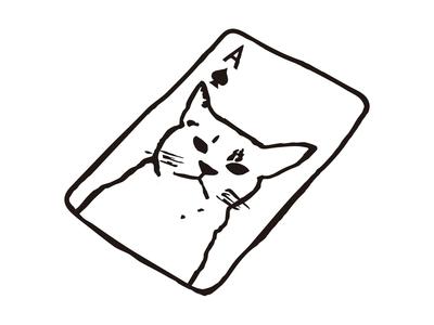 Cat Card card animal cat design illustration japanese japan