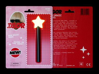 TYLER, IGOR, NEW MAGIC WAND cinema4d 3d toy hiphop product design tyler