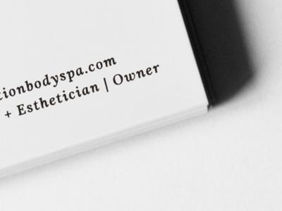Business Card Detail | Restoration Body Spa