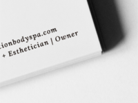 Business Card Detail | Restoration Body Spa