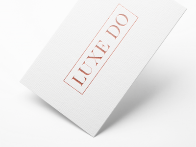 Luxe Do | Rose Gold Business Cards