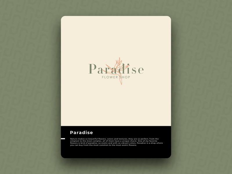 Paradise logo icon design brand