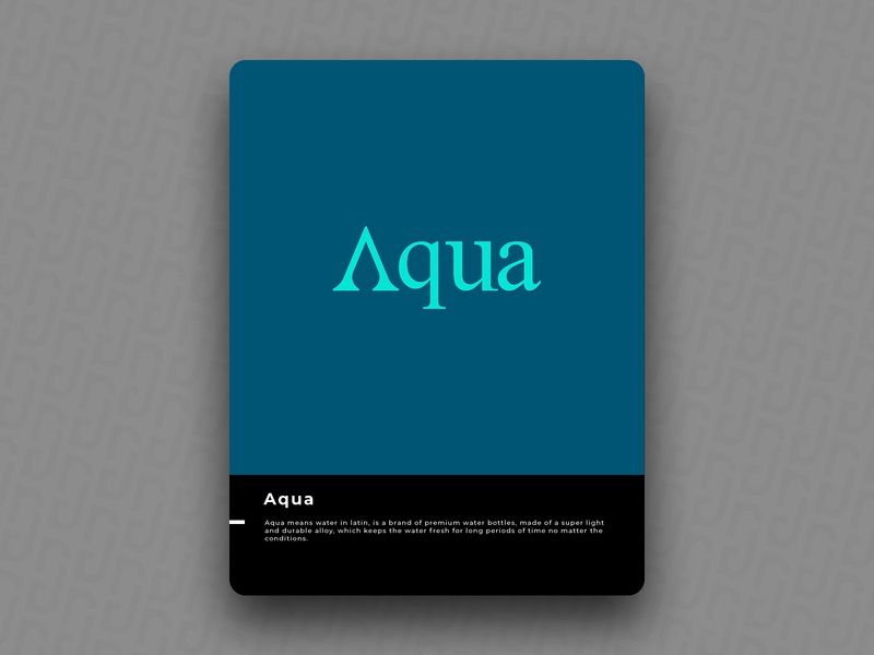 Aqua logo icon design brand