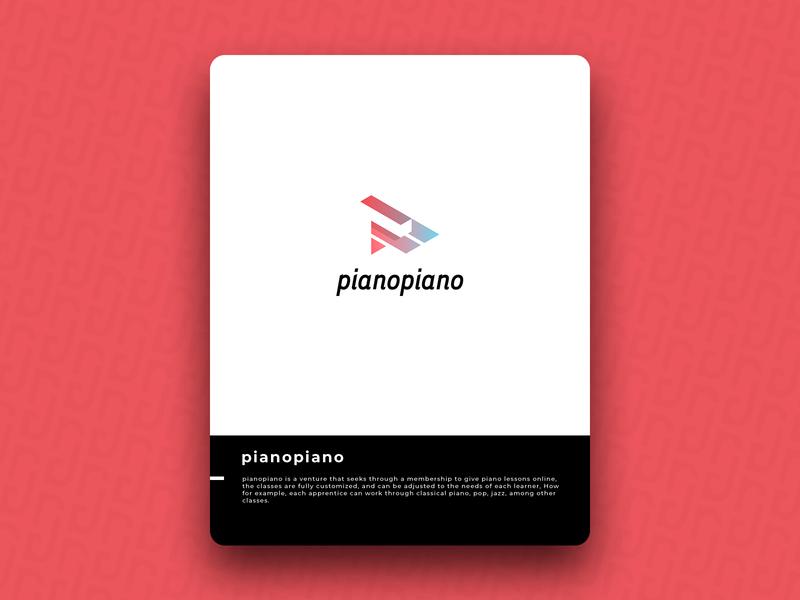 pianopiano logo icon design brand