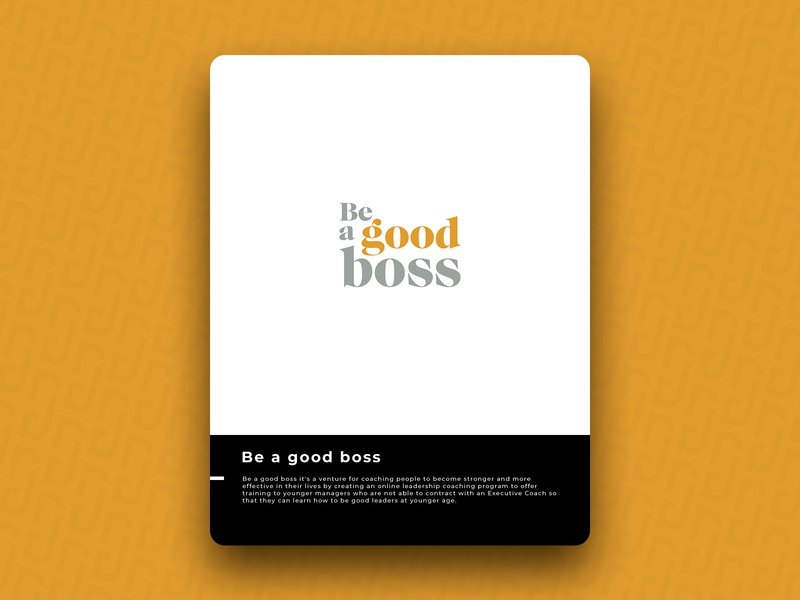 Be a good boss logo icon design brand