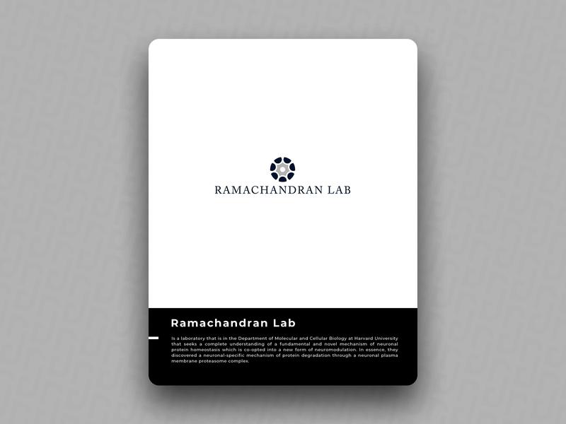 Ramachandran Lab brain illustration logo icon design brand