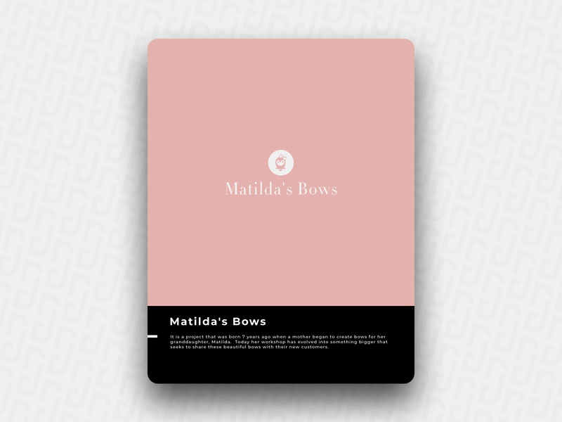 Matilda's Bows bow branding illustration brain logo icon design brand
