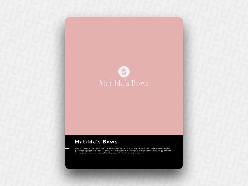 Matilda's Bows bow branding illustration brain logo icon design brand