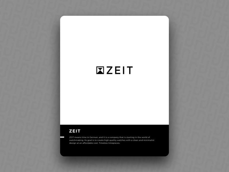 ZEIT wach time brain logo icon design brand