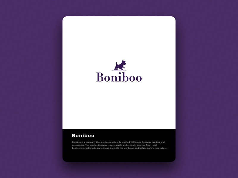 Boniboo beeswax dog brain logo icon design brand
