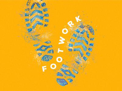 Footwork splash typography design
