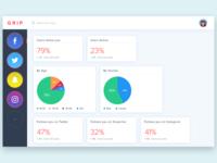 Social Media Dashboard UI