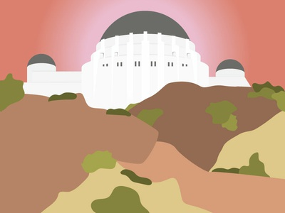 Griffith Observatory | Los Angeles la la land california los angeles la cities skyline hand drawn city drawing travel vector illustrator illustration
