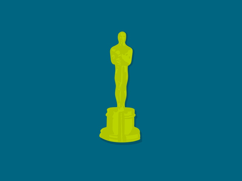 The Oscars for Green Apple Strategy illustration art hand drawn procreate drawing illustration social media awards movies academy awards oscars