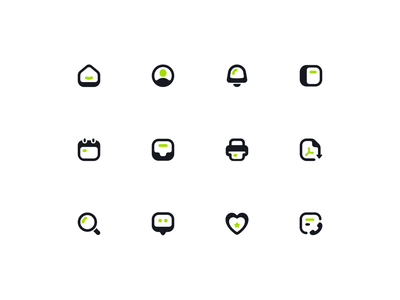 UI Icons Exploration ux pdf search chat print dashboard calender inbox user home vector branding web clean design ui icons