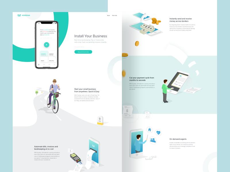 The new koodaa — Landing Page