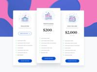 E-school Pricing page