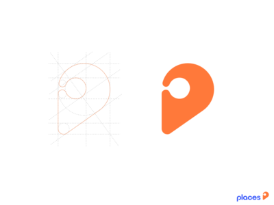 Places branding location pointer map places typography symbol sketch mark logo identity icon