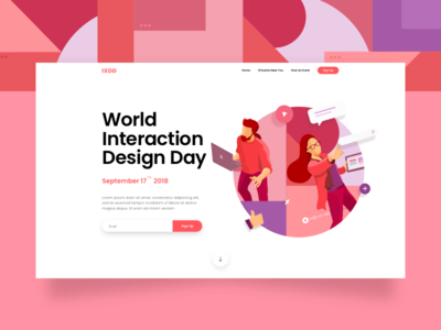 IXDD Landing Page Illustration