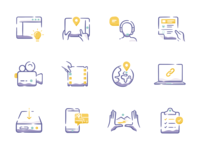 Icon Set for TV and Film Productions and Studios.