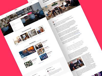 Business Template landing clean template business branding typography landing page design web ux ui website