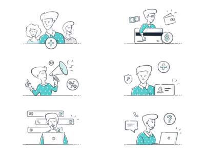 Web App Onboarding Illustrations