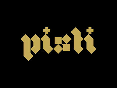 Blackletter Logo for Pisti the Band logotype band logo blackletter lettering graphicdesign identity visual identity brand identity