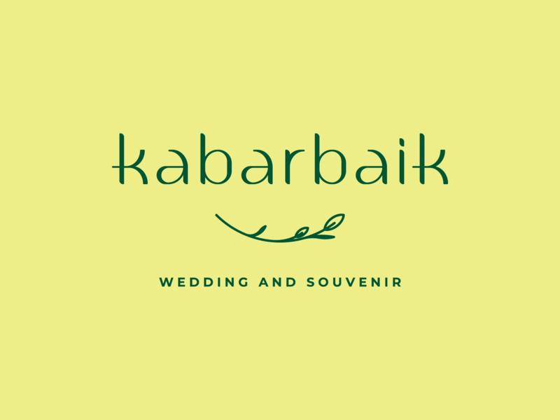 Custom Letters for Kabar Baik Logotype