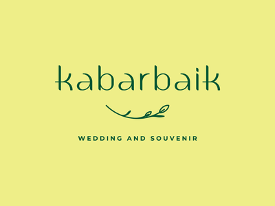 Custom Letters for Kabar Baik Logotype wedding design visual identity identity brand identity logo design graphic design font lettering typogaphy logodesign logotype logo