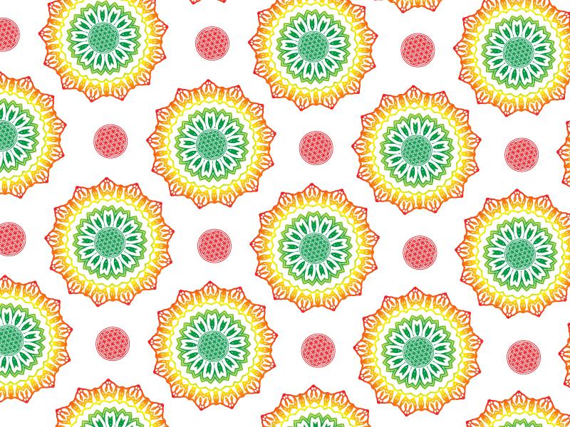 Roots // Pattern Play logo design pattern rastafarian organic typography flower of life rasta mandala