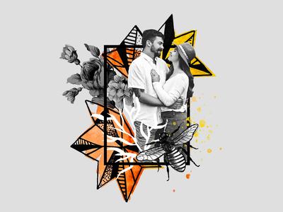 Cosmic Crystals Collage // Sam + Alex