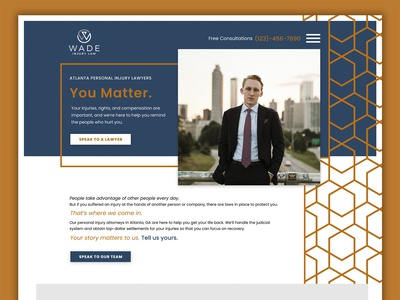 Law Firm Homepage Design