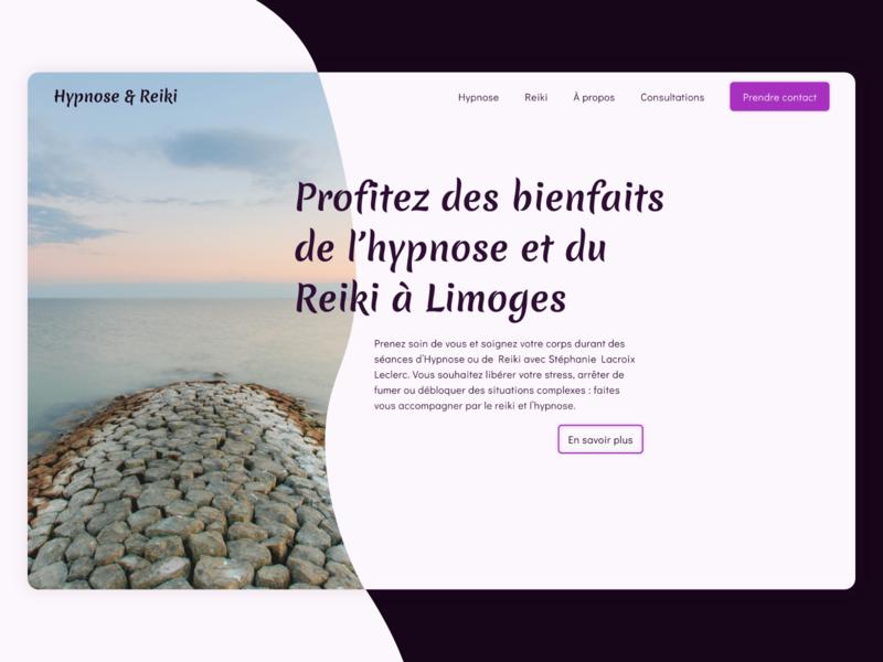 Hypnose & Reiki - Landing page website interface ui zen reiki hypnose vitrine landing page