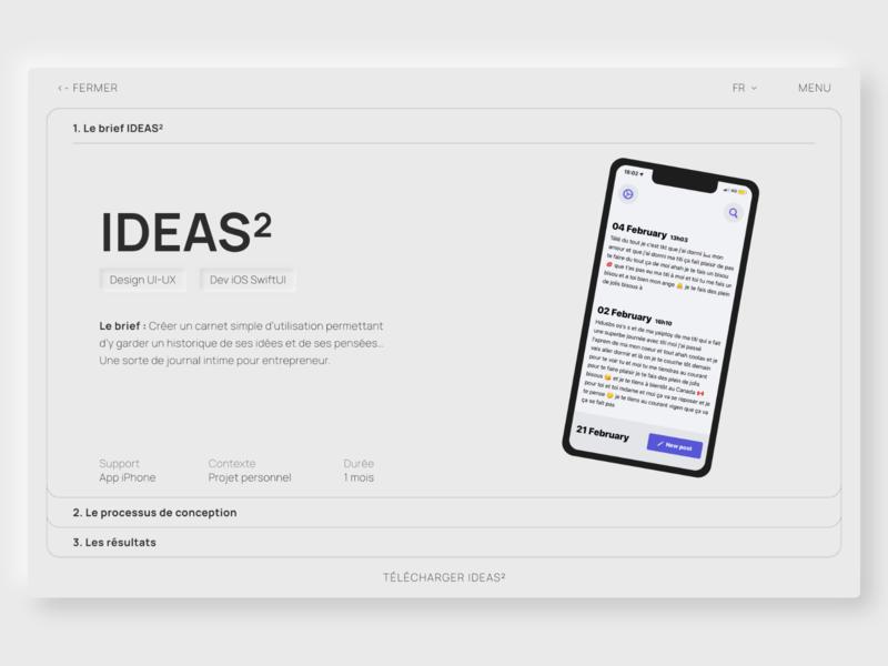 Project detail - Portfolio - Ideas^2 cards ideas interface ui ios app detail project portfolio