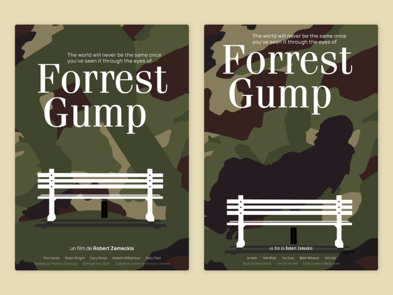 Forrest Gump - Movie poster camouflage olly moss bubba forrest gump poster movie