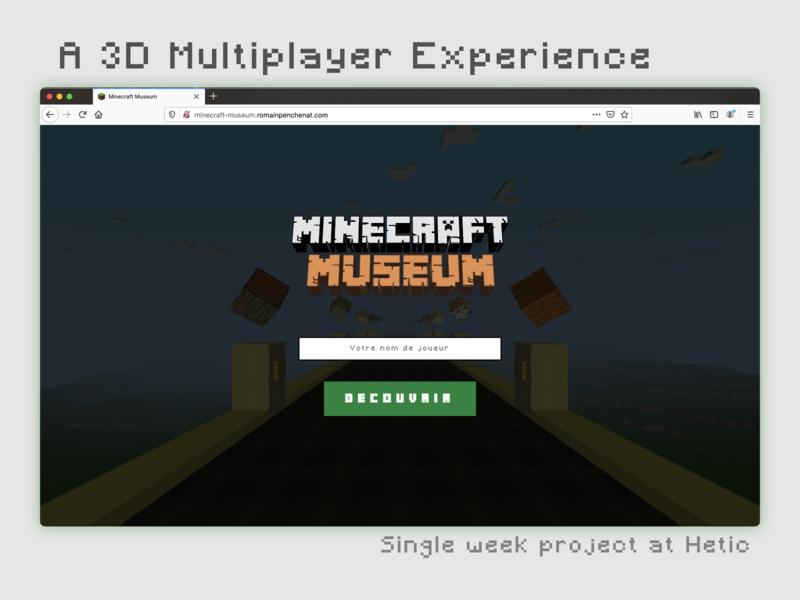 Minecraft Museum - 3D Multiplayer Experience project hetic web experience multiplayer blocks museum minecraft 3d webgl threejs