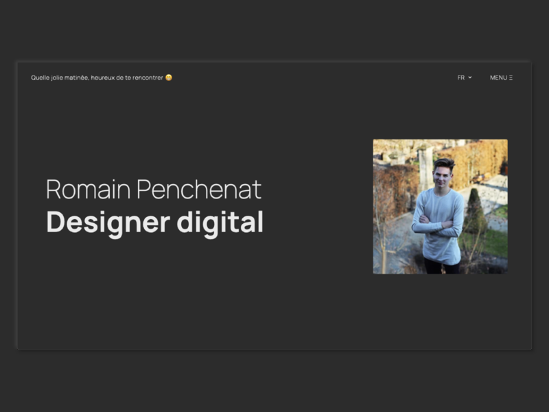 2020 Portfolio - Landing in dark mode digital designer romain penchenat darkmode 2020 landing portfolio