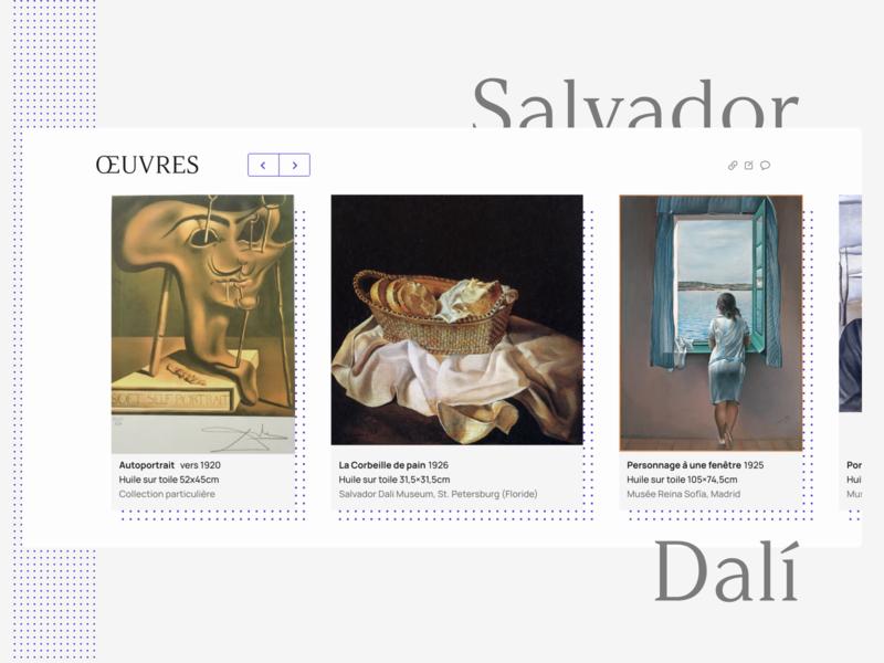 ŒUVRES | Salvador Dalí | Wikipedia redesign interface ui redesign wikipedia dali salvador art oeuvres
