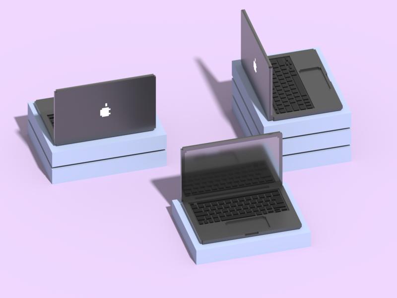 Isometric MacBook Pro in VoxelArt magicavoxel voxelart illustration voxel apple pro macbook isometric