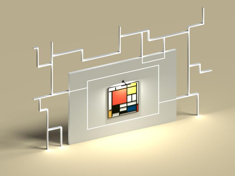 Piet Mondrian Composition in VoxelArt art 3d colors compositio mondrian piet voxelart voxel