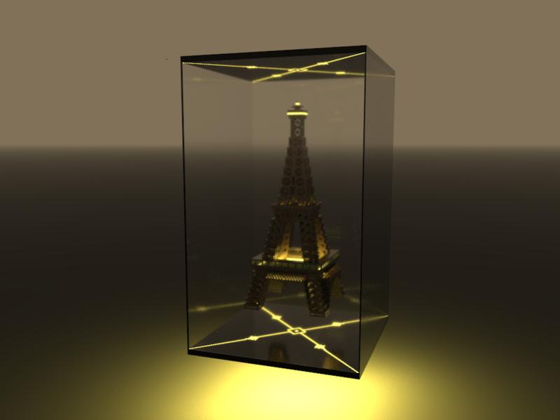 The Eiffel Tower in VoxelArt eiffel tower monument paris magicavoxel voxelart voxel tower eiffel