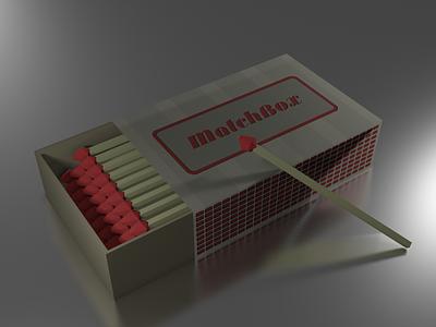 #LowPoly Matchbox - 3D in Blender texturing texture modeling 3d blender matchbox poly low
