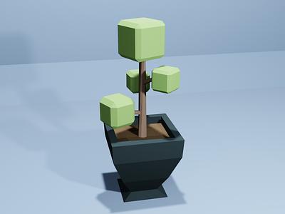 #LowPoly Plant - 3D in Blender modeling 3d blender plant low poly