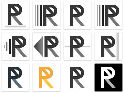 Logo Exploration - Personnal branding branding personnel portfolio exploration logo