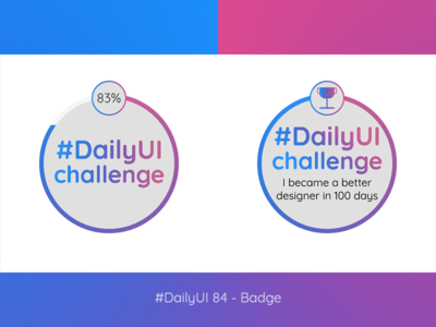 #DailyUI 84 - Badges