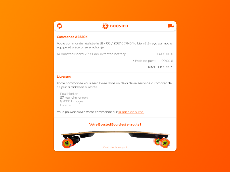 #DailyUI 17 - Boosted board Email Recept recept email board boosted 17 dailyui