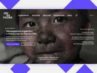 Jeu de Paume Center - Homepage Redesign